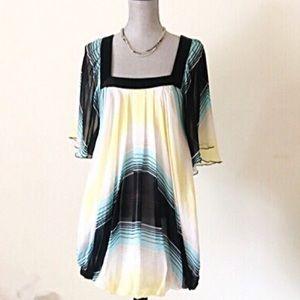 Bebe Silk Babydoll Dress